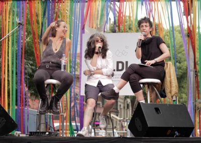 Laura Arnés, Dani Nandez y Silvina Giaganti