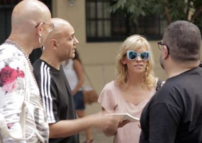 Karen Bennett, Javier Van de Couter, Camila Sosa Villada y Gustavo Pecoraro